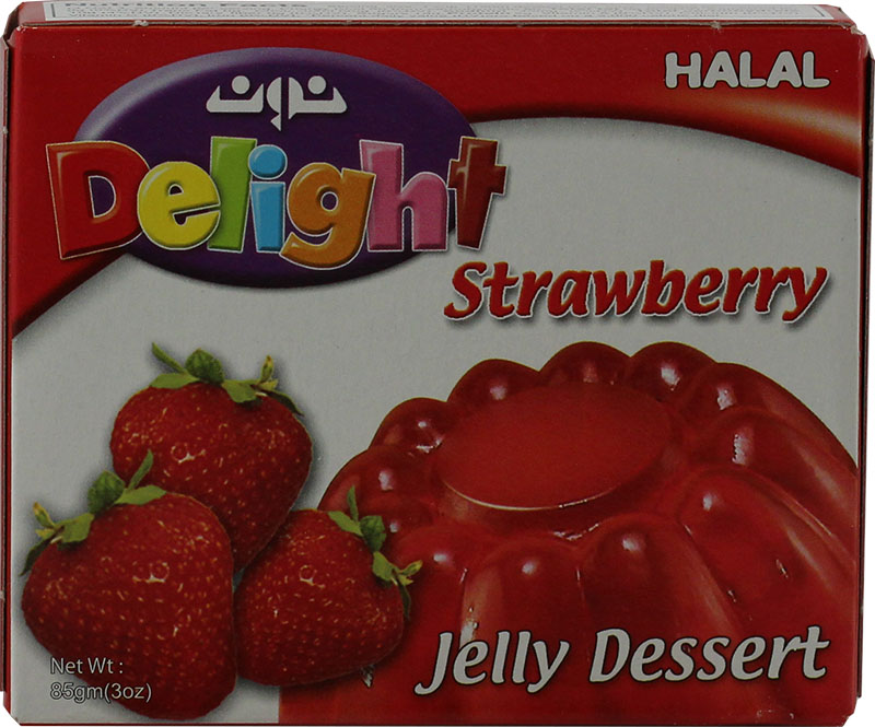 Halal Strawberry Jello