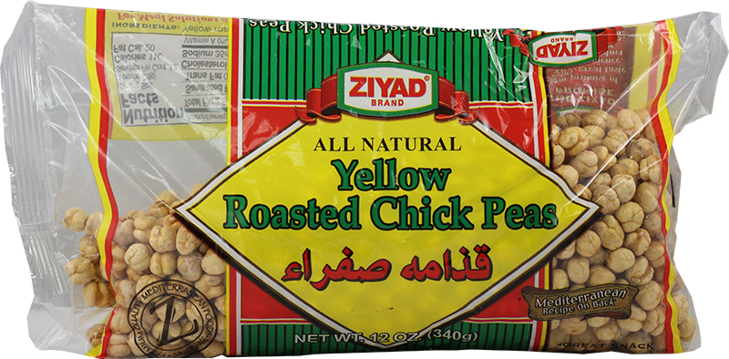 Yellow roasted chick peas