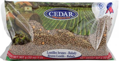Brown lentils balady