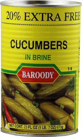 Cucumber pickles baroody