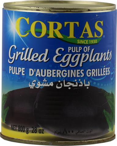 Grilled eggplant cortas