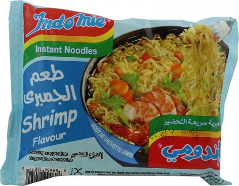 Indomie shrimp soup
